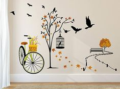 Ideal size after applying on wall: 140 cm X 100 cm  Easy to apply and usable on walls, tiles & smooth surfaces  Made from self-adhesive pvc material  Use in bedroom, living room, playing room, kid's room to enhance your living spaces instantly Simple Wall Paintings, Wall Painting Decor, Wall Decor, Wall Art, Brand Stickers, Stickers Online, Wall Stickers Murals, Wall Murals, Pvc Vinyl