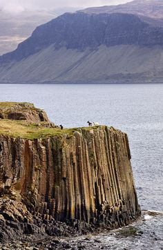 The setting for To Bewitch a Highlander...Isles of Mull, the fossil rocks.