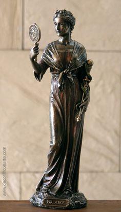 Figura de la prudencia en bronce. 27cm. www.decorarconarte.com