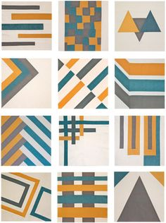 All 12 blocks from the Sew, Mama, Sew! Modern Block of the Month by handmadebyalissa, via Flickr