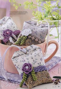Lavender Crafts, Lavender Bags, Lavender Sachets, Fabric Crafts, Sewing Crafts, Sewing Projects, Sachet Bags, Scented Sachets, Little Gifts