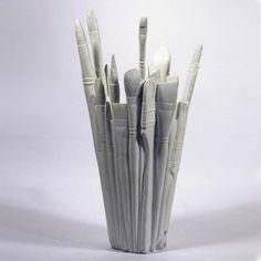 Vase Brush, weiß von Areaware