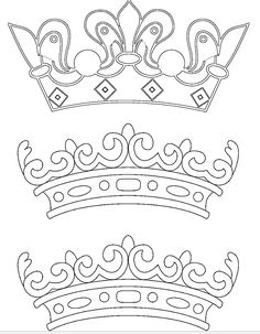 Crown Template, Bible Verses Quotes, Arabesque, Fasion, Embroidery Patterns, Crafts For Kids, Paper Crafts, Clouds, Templates