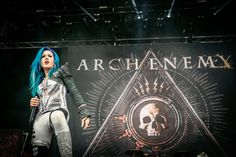 Alissa White-Gluz of Arch Enemy performs at Heavy Montreal 2015