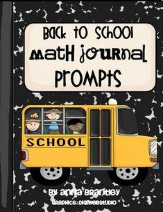 Back to School Math Journal - Anna Brantley - TeachersPayTeachers.com