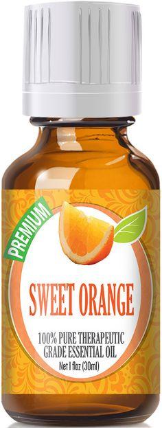 Sweet Orange Essential Oil has a intensely sweet, citrus aroma like oranges. Botanical Name: Citrus sinensis