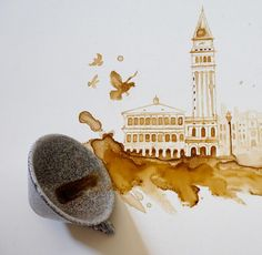 Creative Paintings With Coffee by Giulia Bernardelli