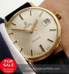 Serviced Omega Geneve Automatic Automatik Date Vintage #omega #omegawatches #omegavintage #vintageos