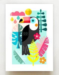 Portfolio Kindergarten, Deco Kids, Posca Art, Atelier D Art, Abstract Geometric Art, Jungle Print, Colorful Wall Art, Bird Art, Cute Drawings
