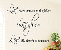 Dailinming PVC Wall Stickers English proverb poetry live every classroom dormitory home decor tastelessWallpaper61cm x559cmRed -- See this great product.