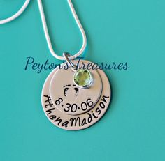 Personalized Necklace Hand Stamped Necklace by PeytonsTreasures, $30.00