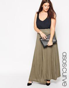 ASOS CURVE Maxi Skirt with Split