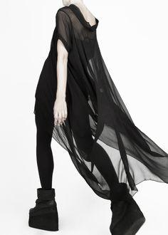 Full length flowy dress & platforms.