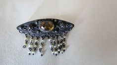 Victorian Cannetille & Wire Work Citrine by DecatiqueStudios, $38.50