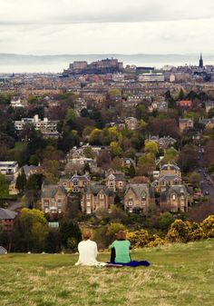 The Castle from Blackford Hill, Edinburgh, Scotland Edinburgh, Scotland
