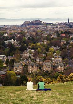 The Castle from Blackford Hill, Edinburgh, Scotland Edinburgh, Scotland