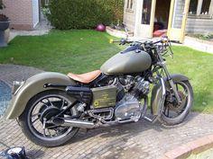 Yamaha XV920 army bike