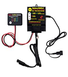 BatteryMINDer's SCC-180 12 volt solar battery charger maintainer adjusts its output several times a second to correctly charge your battery without ever overcharging. Solar Battery Charger, Portable Battery, Miter Saw Reviews, Lead Acid Battery, Solar Lights, Tool Kit, Solar Power, Save Energy, Times