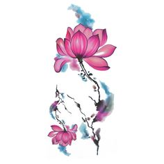 COKOHAPPY Temporary Tattoo , Watercolor Lotus ** Discover this special product, click the image : DIY Makeup