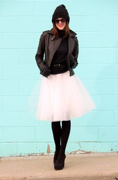 Young at Heart, What I Wore, Jessica Quirk. Wearing tulle and leather successfully.