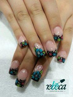 H Acrylic Nails, Nail Designs, Nail Art, Beauty, Style, Nail Arts, Dark Nails, Colorful Nail Designs, Unicorn Nails