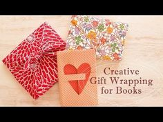3 Creative Gift Wrapping Ideas for Books Japanese Gift Wrapping, Japanese Gifts, Creative Gift Wrapping, Creative Gifts, Wrapping Ideas, Gift Wrapping Techniques, Book Gifts, Material Design, Gift Packaging