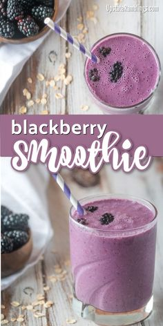 Berry Smoothie with Oatmeal recipe - an easy dairy free breakfast blackberry smoothie combining oatmeal with frozen berries for a healthy and tasty morning meal smoothie dairyfree blackberry breakfastsmoothie Oatmeal Smoothies, Healthy Breakfast Smoothies, Easy Smoothie Recipes, Easy Smoothies, Oatmeal Recipes, Fruit Smoothies, Snack Recipes, Dinner Recipes, Vegetable Smoothies