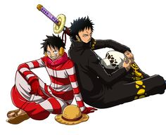 Luffy and Law by ~Narusailor on deviantART