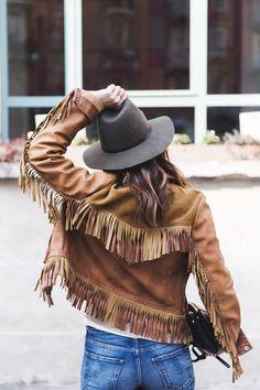 AW YIS! Love suede fringe jacket