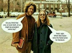 Young Bill Clinton and Hillary Rodham Clinton