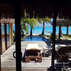 #borabora #Tahiti  a beautiful view from your room at the #stregis