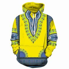 African Print Dashiki Sweatshirt Men Women Hoodie 2018 Autumn New Hip Hop Mens Hoodie Pullover Hipster Hoody African Clothing Dashiki Hoodie, African Dashiki, Mens Sweatshirts, Pullover, Casual, Style Fashion, Latest Fashion, Fashion Trends, Hip Hop