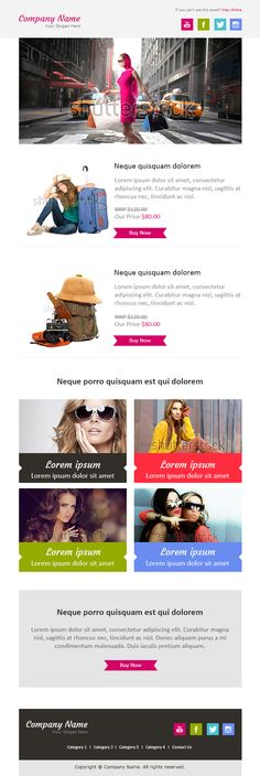 Email Newsletter Examples, Business Email Templates Sample | Email