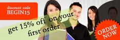 Get 15% Off on your first order