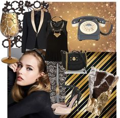 """try the gold next time!"" by saramoreira ❤ liked on Polyvore"