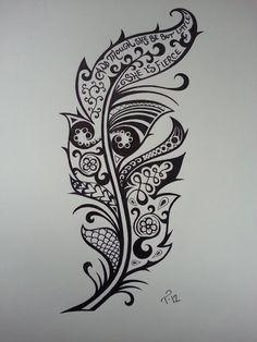 Diseño Tatuaje Pluma - Sexy Tatuajes