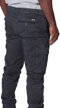 Men's Trousers with Cargo Pockets – Dark Blue. #cargopants