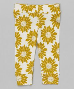 Take a look at this Olive Floral Organic Leggings - Infant on zulily today!