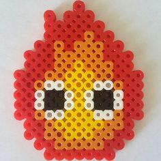 Calcifer perler beads by pharmalovesphood