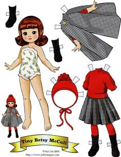 Tiny Betsy McCall paper doll by Siyi Lin Tiny Betsy McCall paper doll by Siyi Lin