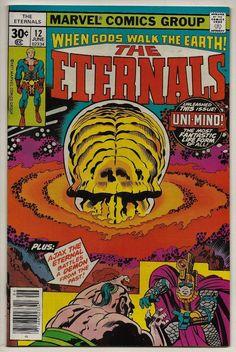 The Eternals #12 VF+ 8.5 Marvel 1977 Jack Kirby 1st app Uni-Mind vs Ajax/Ajak