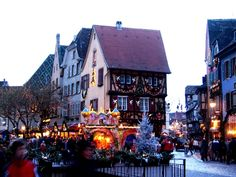 german christmas pictures | Christmas market in Colmar, France. It takes up the entire city!
