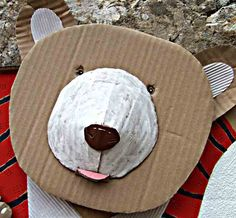 Welcome to Léo& website - Welcome to Leo& site … cant you see this guy in a Bear Uniform? Recycled Crafts Kids, Recycled Art, Bear Crafts, Animal Crafts, Diy For Kids, Crafts For Kids, Arts And Crafts, Cardboard Crafts, Paper Crafts