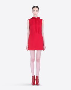 Онлайн-бутик Valentino – Red Dress In Crepe Couture Для Женщин от Valentino