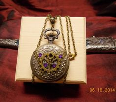 Steampunk Butterfly with Key Unisex Locket by mythicaljewelry, $40.00