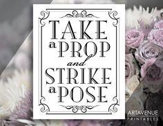 Printable Art Vintage Wedding Art Deco Sign  by ARTAVENUEPRINTS
