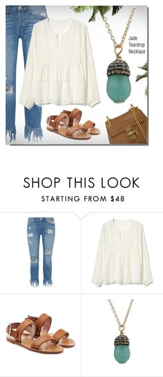 """""""IsabelleGraceJewelry.com"""" by monmondefou ❤ liked on Polyvore featuring 3x1, Gap, RED Valentino, Chloé and IsabelleGraceJewelry"""