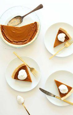 THE BEST Vegan Gluten Free Pumpkin Pie! 10 ingredients, simple methods, SO delicious