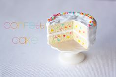 Polymer clay Miniature Confetti Cake by ToniEllison
