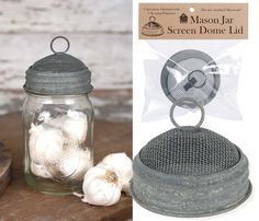 x Fits any standard Mason jar. Use your Mason jar as a creative terrarium. Sprout beans, seeds, and more in any Mason Jar. Diy Hanging Shelves, Diy Wall Shelves, Floating Shelves Diy, Mason Jar Projects, Mason Jar Crafts, Mason Jar Diy, Mason Jar Storage, Mason Jar Kitchen, Chalk Paint Mason Jars